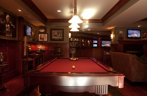 Old Fashioned Basement Man Cave (built by LangKuhn LLC, deigned by Interior Concepts, photo by A.F. Wright Photography)