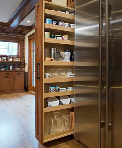 Spare Space By Your Fridge Turn It Into Storage (by Bud Dietrich, photo by Tony May)