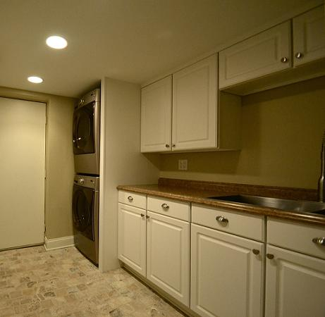 Updated Basement Laundry Space (by Dal Builders)