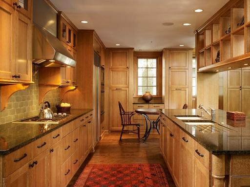 Wood Cabinets With Cerused Distressed Finish (bu Stuart Cohen and Julie Hacker Architects LLC)