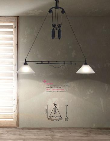Agate Pulley Pendant Light From Zuo Modern