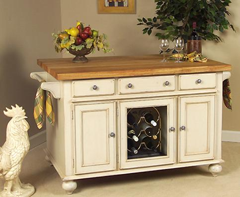 A'la Carte White Kitchen Island From Kaco