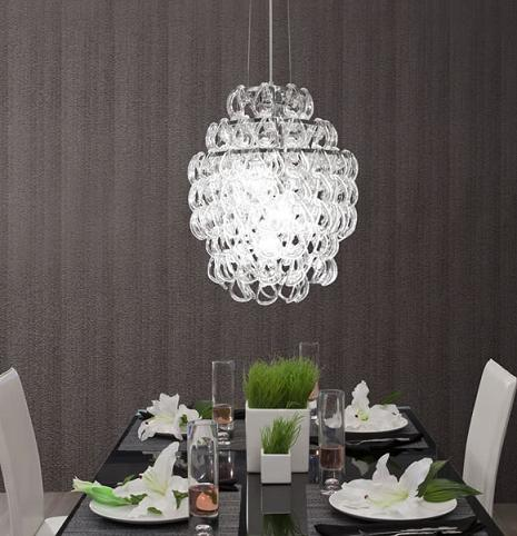 Cascade Glass Chandelier From Zuo Modern