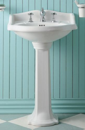 China Petite Pedestal Sink From Whitehaus