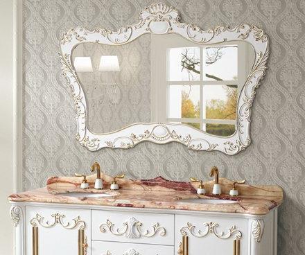 Decorative Antique Mirror In Classic White From Legion Furniture