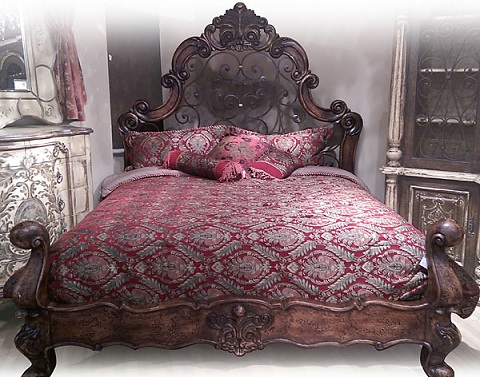 Home Forged Iron King Bed FRA-AFR-5024-K-RF from AFD