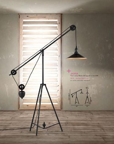 Jasper Pulley Floor Lamp From Zuo Modern