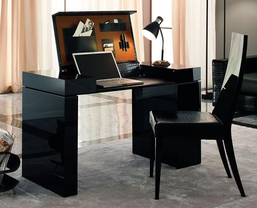 Nightfly Black Home Office Desk From Rossetto