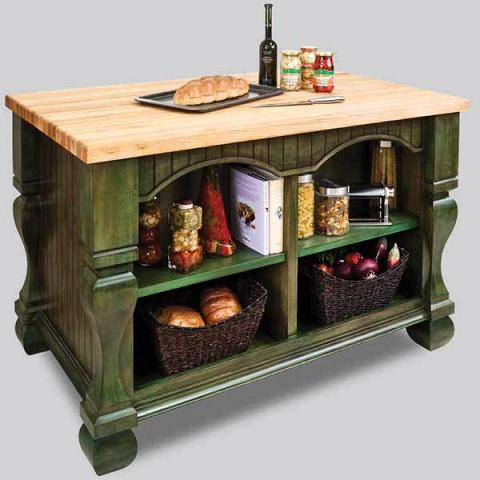 Open Back Kitchen Island From Hardware Resources
