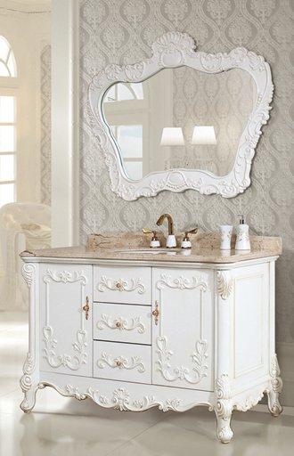 Ornamental White Bathroom Vanity From Legion Furniture