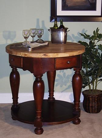 R.S.V.P. Compact Kitchen Island With Butcher Block From Kaco