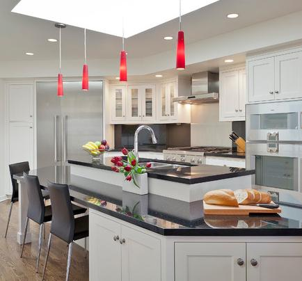 Red Glass Pendant Lights (by HOUSEworks)