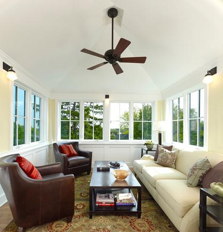 A Simple Ceiling Fan Keeps This Lookout Room   Typically The Hottest Room  In The House