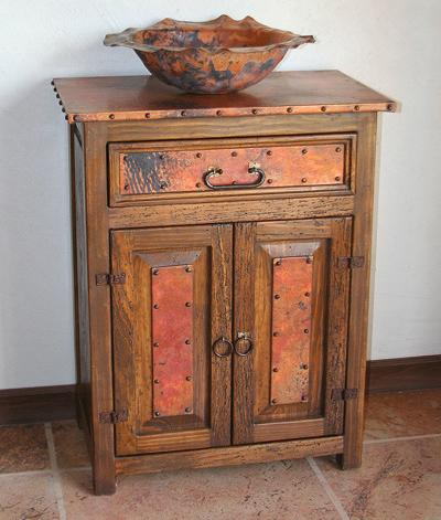 Anna Rustic Copper Bathroom Vanity From Sierra Copper