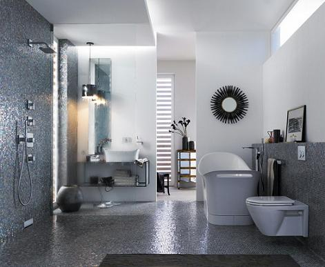 Axor Urquiola Freestanding Tub With Open Shower From HansGrohe