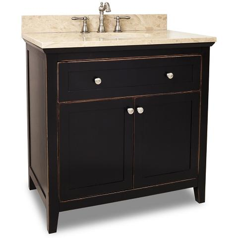 Chatham Shaker Vanity In Distressed Black From Hardware Resources