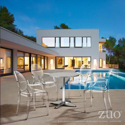 Acrylic Outdoor Furniture Dining Clear Acrylic Outdoor Furniture Is The Next Best Thing To Invisible And Is Much Stronger Homethangscom Using Acrylic And Wire Frame Furniture To Preserve An Outdoor View