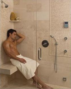 Custom Shower With Steamist Steam Generator And Touch Interface