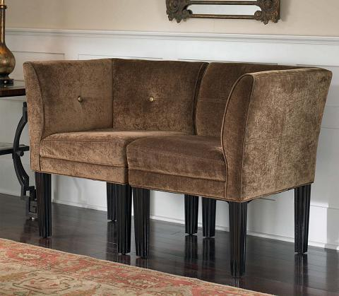 Nia Corner Chair From Uttermost