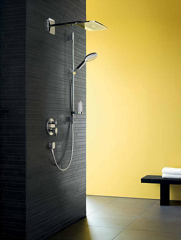 Open Shower WIth Select 150 Air Jet Handshower From Hansgrohe