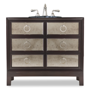 Regan Bathroom Vanity With Metal Accents From Cole and Co