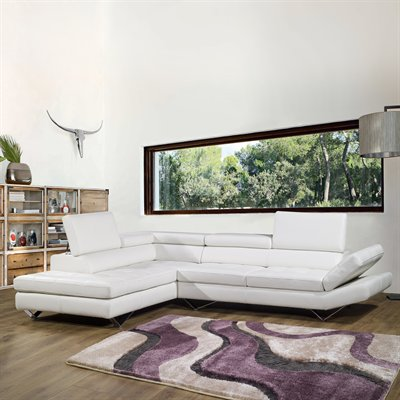 Sicilia Corner Sectional Sofa And Loveseat From Bellini Modern Living