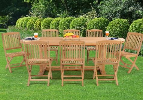 Teak Dining Set With Extension Table From Caluco