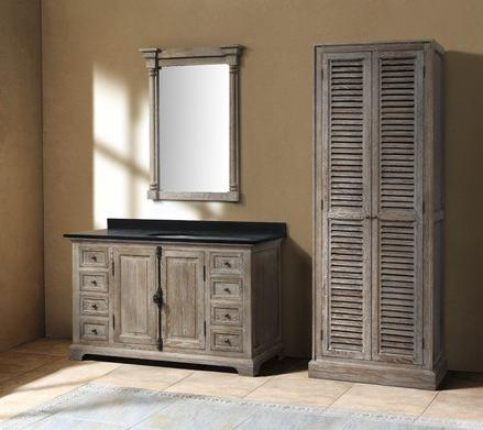 Going Gray Aged Wood Bathroom Vanities For A Natural Antique Look