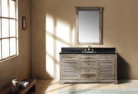 Going Gray Aged Wood Bathroom Vanities For A Natural