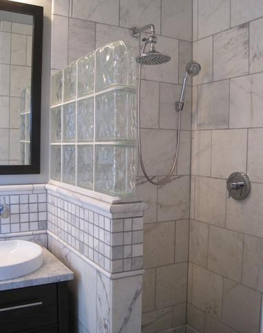 A Tile Wall Can Doo The Trick Too, Offering Privacy Without Completely Closing Off The Space (by Merry Powell Interiors)