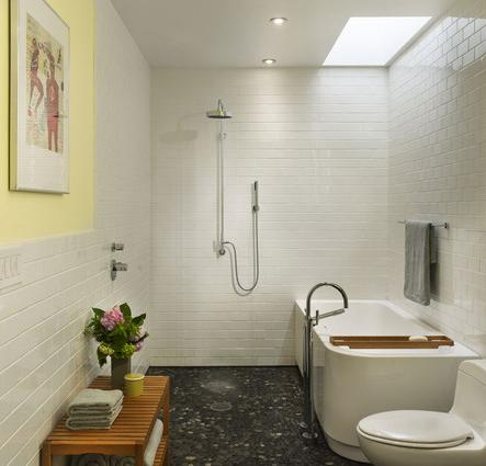 A Wet Bathroom Tiled Head To Toe Creates A Totally Barrier Free Design That Makes A Luxury Shower Possible In Any Size Bathroom (by Brett Webber Architects, photo by Halkin Photography)