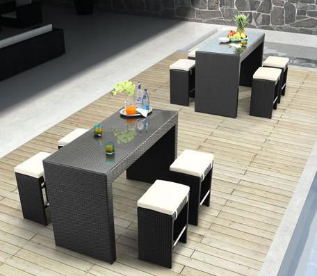 Agadir Table And Bench Set From Zuo Modern