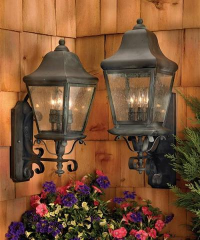 Belmont Outdoor Wall Lantern In Charcoal Finish With Seeded Glass Panes From Artistic Lighting