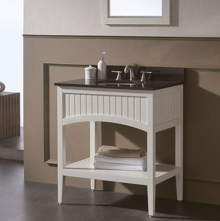 Beadboard Bathroom Vanities A Cottage Style For A Larger Bathroom