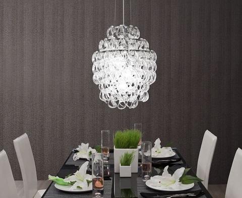 Cascade Glass Chandelier From Zuo Modern