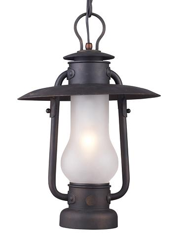 Chapman Hurricane Lantern Pendant From Landmark Lighting