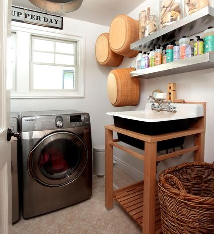 Even A Basic Sink Can Add Functionality And Style To Your Laundry Room (By Kelley And Company Home)