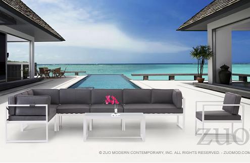 Golden Beach Outdoor Sectional Set From Zuo Modern