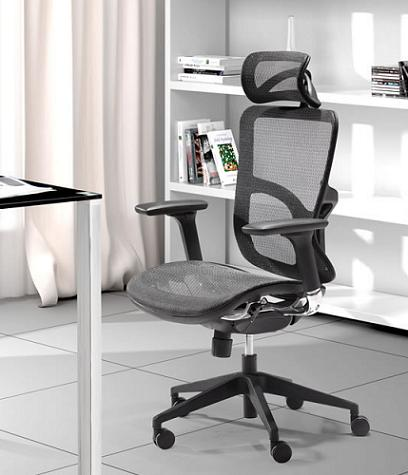 Harlean High Back Mesh Office Chair From Zuo Modern