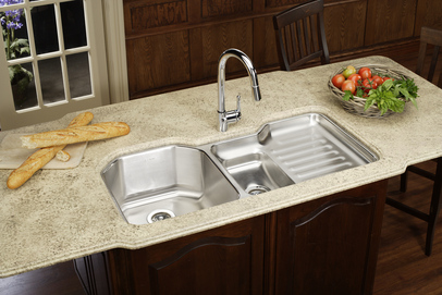 Harmony Lustertone Dual Bowl Gourmet Kitchen Sink From Elkay