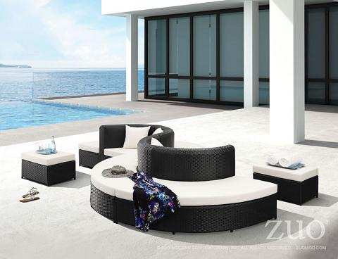 Ipanema Outdoor Sectional Seating Set From Zuo Modern
