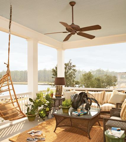 Lakefront Porch With Ceiling Fan (by Historical Concepts)
