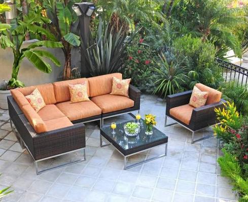 Mirabella Six Piece Sectional Set With Sunbrella Cushions From Caluco