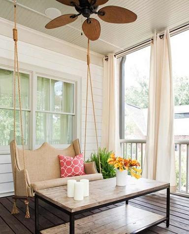 Porch Swing With Ceiling Fan (by TerraCotta Properties)