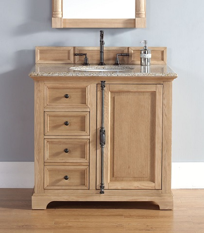 "Providence 36"" Single Bathroom Vanity In Natural Oak 238-105-5521 from James Martin Furniture"