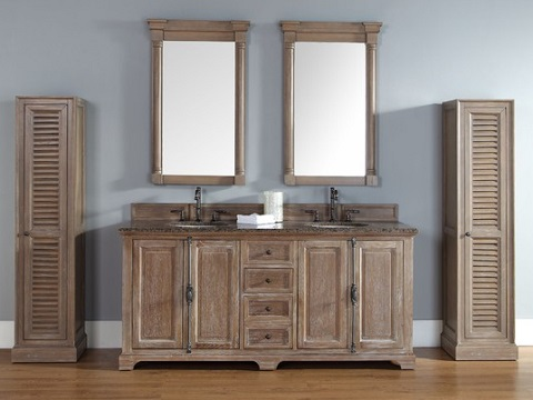 """Providence 72"""" Double Bathroom Vanity 238-105-5711 in Driftwood from James Martin Furniture"""