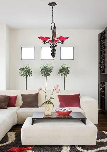 Villa 3-Light Chandelier In CHerry Glass From ELK Lighting