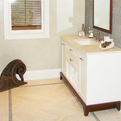 A Tile Border Helps Define Your Bathroom's Floor Space, And Looks Especially Stylish With A Different Tile Fill (by Brian Watford)