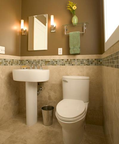 Adding Mosaic Tile To A Half Wall Can Help Add Color And Definition (by Julie Williams Design, photo by Ken Smith)
