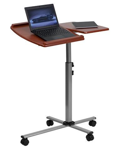 Angle And Height Adjustable Mobile Laptop Computer Table From Flash Furniture